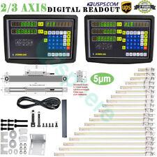 Linear Scale 23axis Digital Readout Dro Display Glass Sensor Bridgeport Mill Us