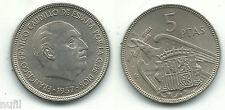 General Franco 5 pesetas 1957 * 62  Muy bonita