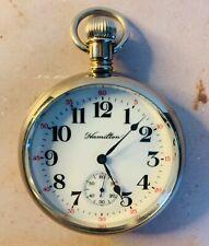 Antique Hamilton Railroad Pocket Watch Runs Perfectly #236/500