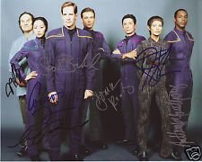 STAR TREK ENTERPRISE CAST AUTOGRAPH SIGNED PP PHOTO POSTER