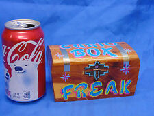 HAND PAINTED CIRCUS SIDESHOW WOODEN CURIO BOX DISPLAY,FREAK,ODDITY,OOAK,SIGN,ODD