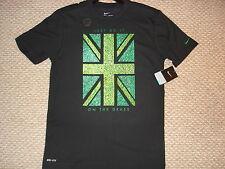 NWT Nike Wimbledon Union Jack Grass Tennis Tee Shirt Federer Nadal 533801-010 M