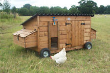 Extra Large 20-25 Wheels Poultry Chicken Coop Shed Ark