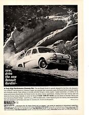 1961 RENAULT GORDINI  ~  VINTAGE ORIGINAL PRINT AD