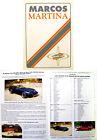 Marcos Martina Coupe & Spyder c1992 Original UK Sales Brochure & Order Form