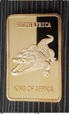 1 Onza Barras de medalla barras de Krugerrand Cocodrilo 999 dorado en Kapsel