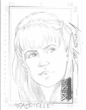 Xena Art and Images Scott Rosema Sketch Card Gabrielle hand drawn SketchaFEX