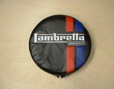 """LAMBRETTA  SPARE WHEEL COVER  """"BLACK WITH LOGO"""" - BRAND NEW"""