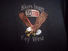 Bikers Image Key West FL black graphic L casual t shirt