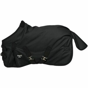 "New Tough-1 Miniature Horse Blanket Waterproof Turnout 38"" Black Rug Pony Tack"