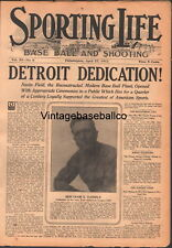 RARE 1912 Sporting Life Baseball Magazine Dedication DETROIT TIGERS NAVIN FIELD