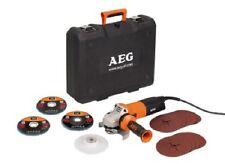 AEG Winkelschleifer WS12-125 XE Kit (im Koffer + Schleifscheiben)