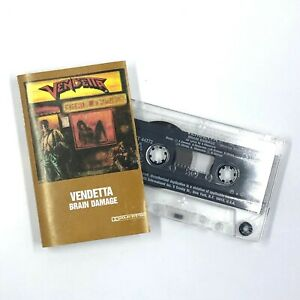 VENDETTA Brain Damage Cassette Tape 1988 Thrash Speed Metal Rare