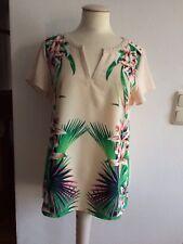 Mexx Shirt Tunika Blumen Nieten zu Jeans Hose Rock Gr. 38