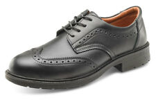 B-Click Footwear SW2011 Managers Anti-Static Safety Brogue Shoe Black