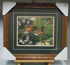 Apple Blossom Time-Robins by Micheal Sieve