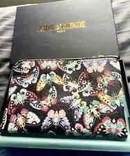 Zadig & Voltaire Leather Case Exclusive Design Multi-Color Butterflies 7x5 NIB