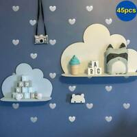 45 Pcs Removable Wall Stickers Little Love Heart DIY Decals Sticker Kids Bedroom