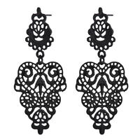 Fashion Women Alloy Black Long Bohemian Pierced Dangle Drop Earrings Jewelry New