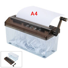 Home Office Shredder A4 Paper Mini Hand Cut Cross Shredding Box Desktop Office