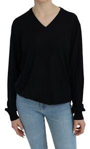 BALLANTYNE Sweater Wool Blue V-neck Long Sleeve Pullover Top s. XXL
