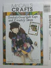 McCall's M4542 Sophie's Crazy Quilt Cape & Country Dress Sewing Pattern Uncut