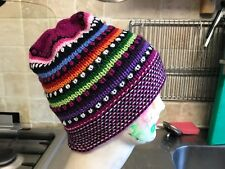 Alpaca Wool Beanie Hat  Hippy festival Hand crafted in Peru  style 13