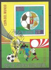 Football Guinée Equatoriale (18) bloc oblitéré