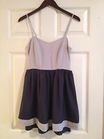 Modcloth Ya Los Angeles Purple Grey Spaghetti Strap Dress Size M Black Strap