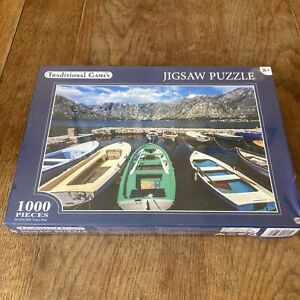 Boats and Mountains 1000 Pieces Brand New and Sealed Jigsaw Puzzle