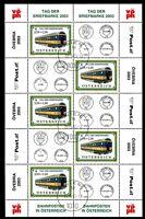 Österreich Kleinbogen MiNr. 2414 Ersttagsstempel Eisenbahn (Eis629