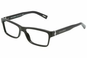 New DOLCE & GABBANA DG3129 501 55mm Black Eyeglasses RX Frames Italy