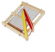 Webrahmen mit Wolle 22 x 19 x 3 cm Weben Rahmen Kettgarn für Kinder