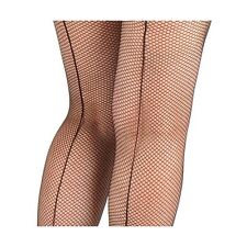 FISHNET TIGHTS BLACK WITH COUTURE LINE EDGING BEHIND LA STEM ONE SIZE