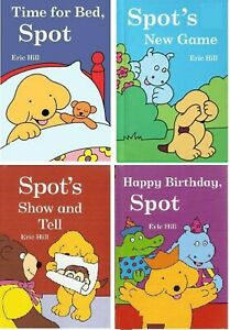 NEW x 4 SPOT the DOG 7 x 5 HARDBACK BOOKS Happy Birthday Show and Tell Time Bed