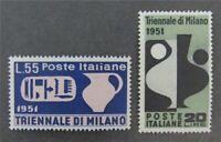 nystamps Italy Stamp # 582,583 Mint OG H $35