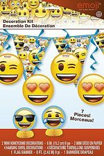 EMOJI DECORATING KIT Banner Table Garland Party Decorations Room Decor Wall Kids