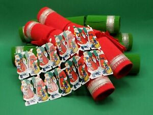 Six Reusable, fill Your Own Christmas Crackers