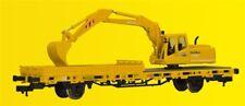 Kibri 26250 échelle H0, wagon bas-pension avec ATLAS EXCAVATRICE
