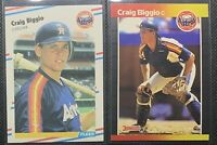 Craig Biggio 1989 Donruss #561     1988 Fleer U-89    2 cards    ****HOF****