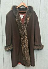 New listing Vintage Marvin Richards Lamb Wool Coat With Beaver Trim