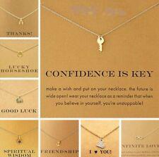 Collar de Cadena Colgante de color oro tarjeta de regalo de 33 diseños de joyería hecha a mano