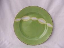 Retro Noritake Cake Entree Plate Only!Funky Lime Green & White Swirls Japan 1951