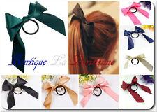 Ponytail Elastics Hair Tie Hairband Hair Bow Large Double Bow Satin 8 Colours