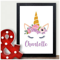 Personalised Unicorn ANY Name Gifts Pink Unicorn Christmas Girls Her Daughter