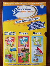 Hooked on Phonics: Hooked on Things That Go! Super Activity Kit 3-Pack