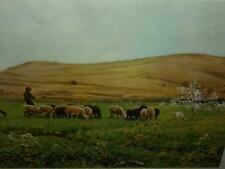 Joaquin Vayreda:The Flock Rare Sheep Framed Spain