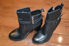 Lane Bryant Cara leather city heel ankle boot Size 8W