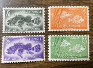 Spanish Sahara 70-71, B27-28 Fish MH