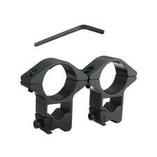 """Extra High Profile Scope Rings - 1"""" Dia - Weaver Rail Mount - See Through -D3019"""